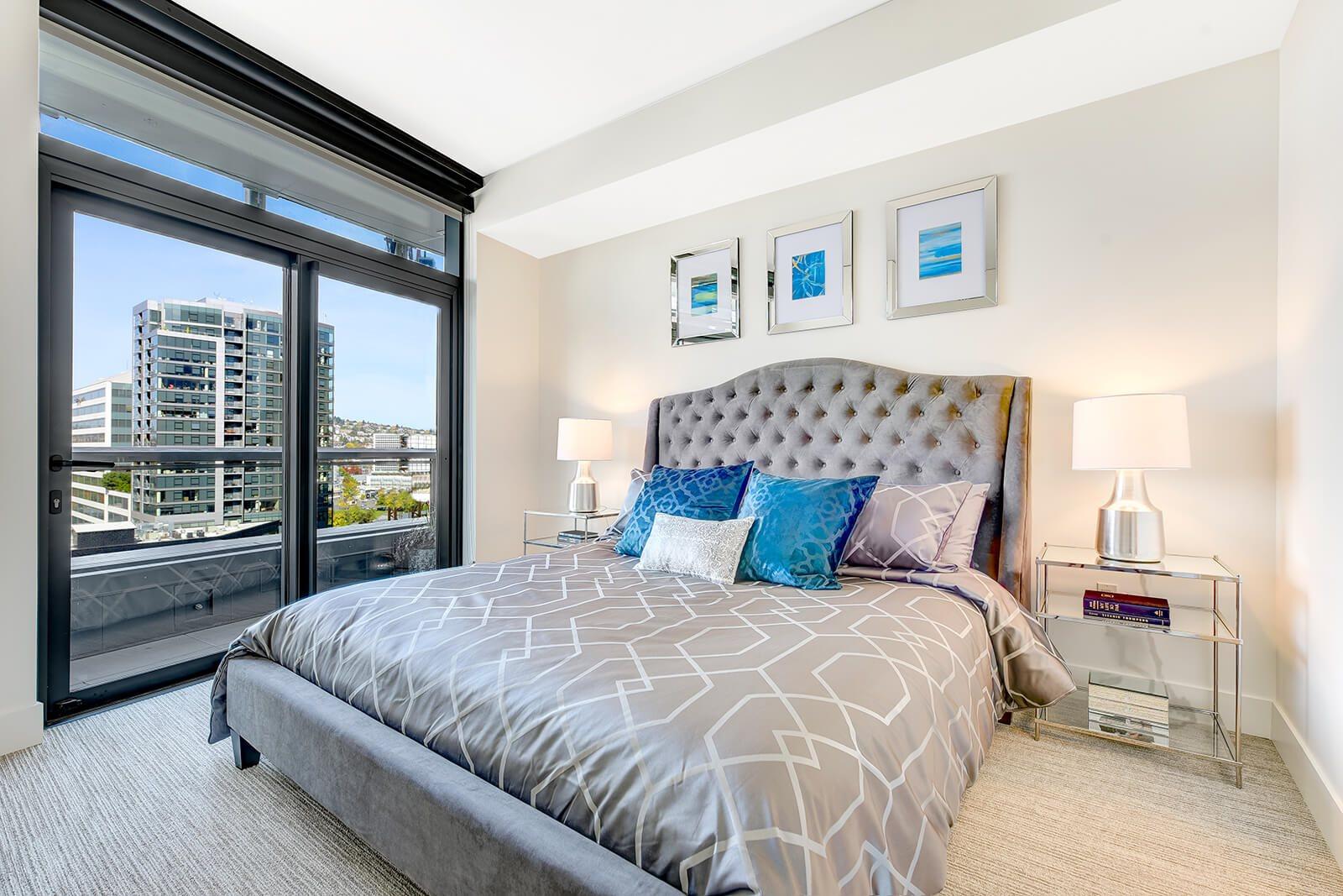 Bedroom at Cirrus Apartments