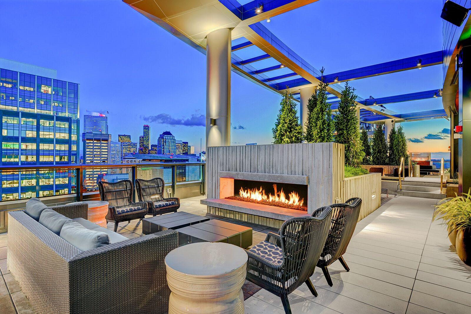 Rooftop Deck at Cirrus Apartments