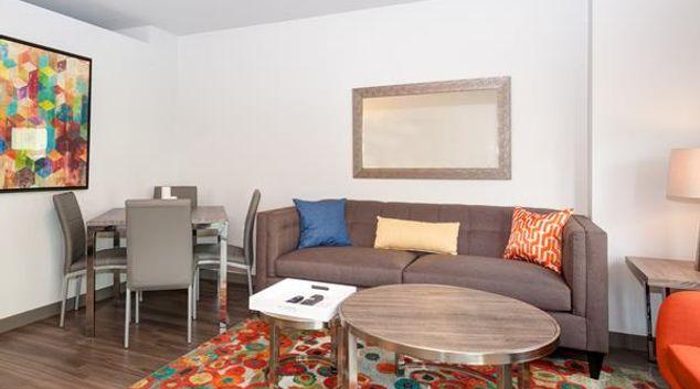 Living room at Oakwood Seattle South Lake Union, South Lake Union, Seattle