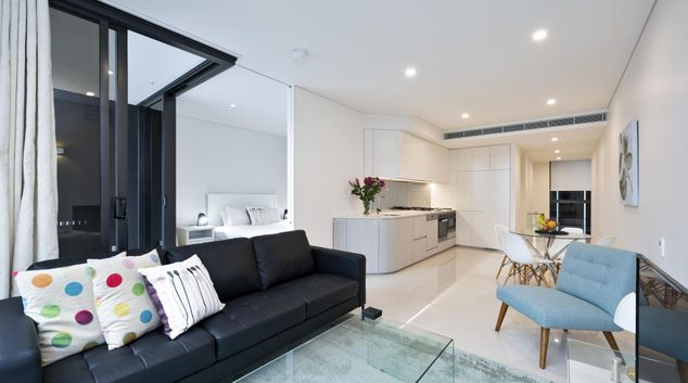 Lounge at Clarence Street Apartments