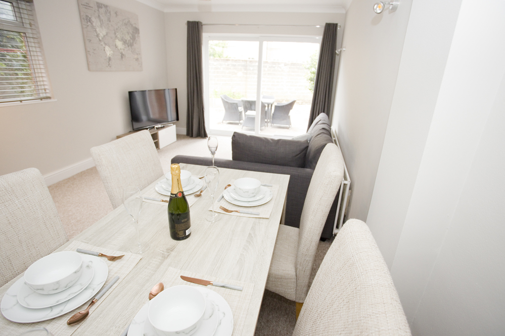 Dining table at Chine Gardens Apartment