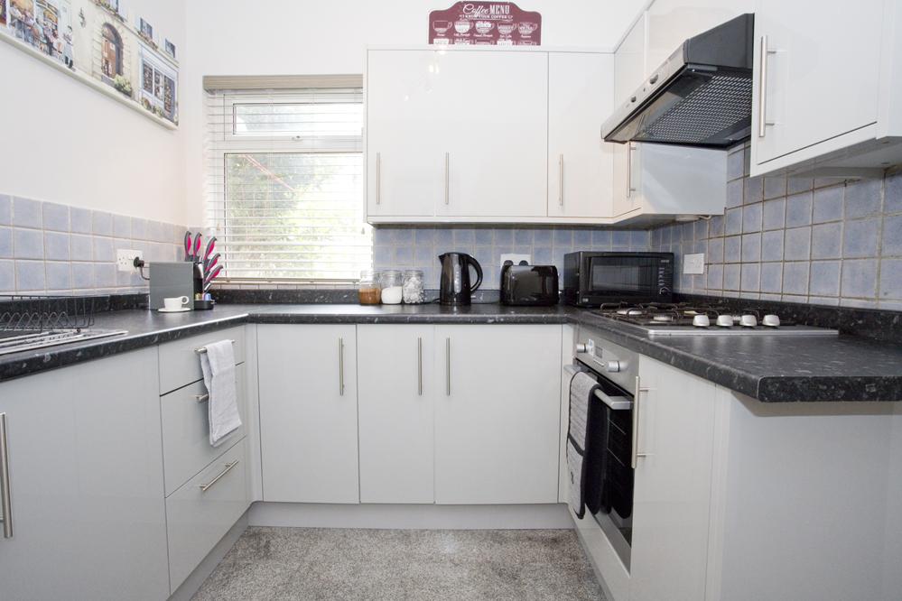 Modern kitchen at Chine Gardens Apartment