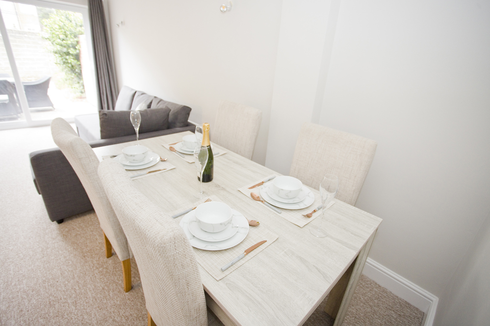 Dining area at Chine Gardens Apartment