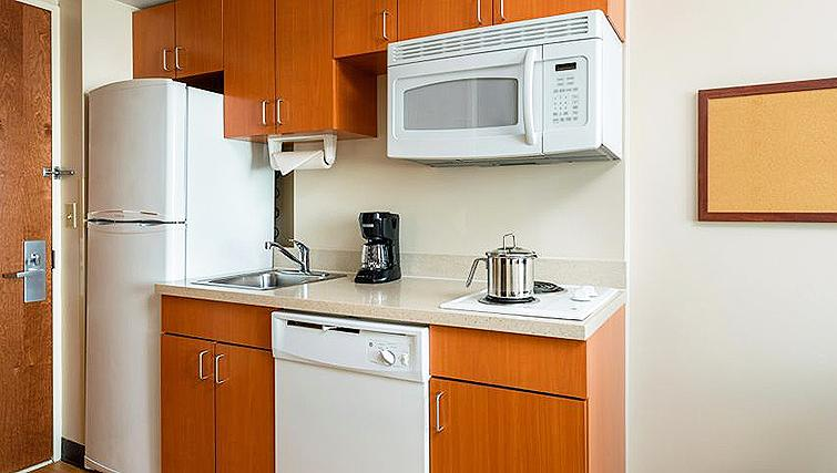 Compact studio apartment Candlewood Suites New York Times Square
