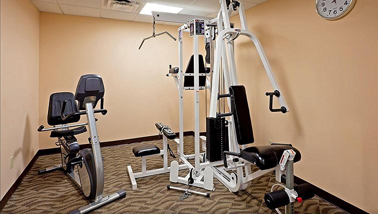 Fully equipped gym in Candlewood Suites New York Times Square