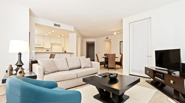 Living room  at The Village Apartments, Irvine, Orange County