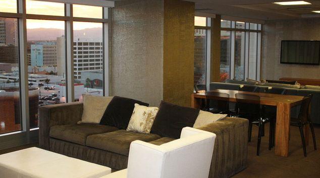Living area at The Ogden Apartments, Downtown, Las Vegas