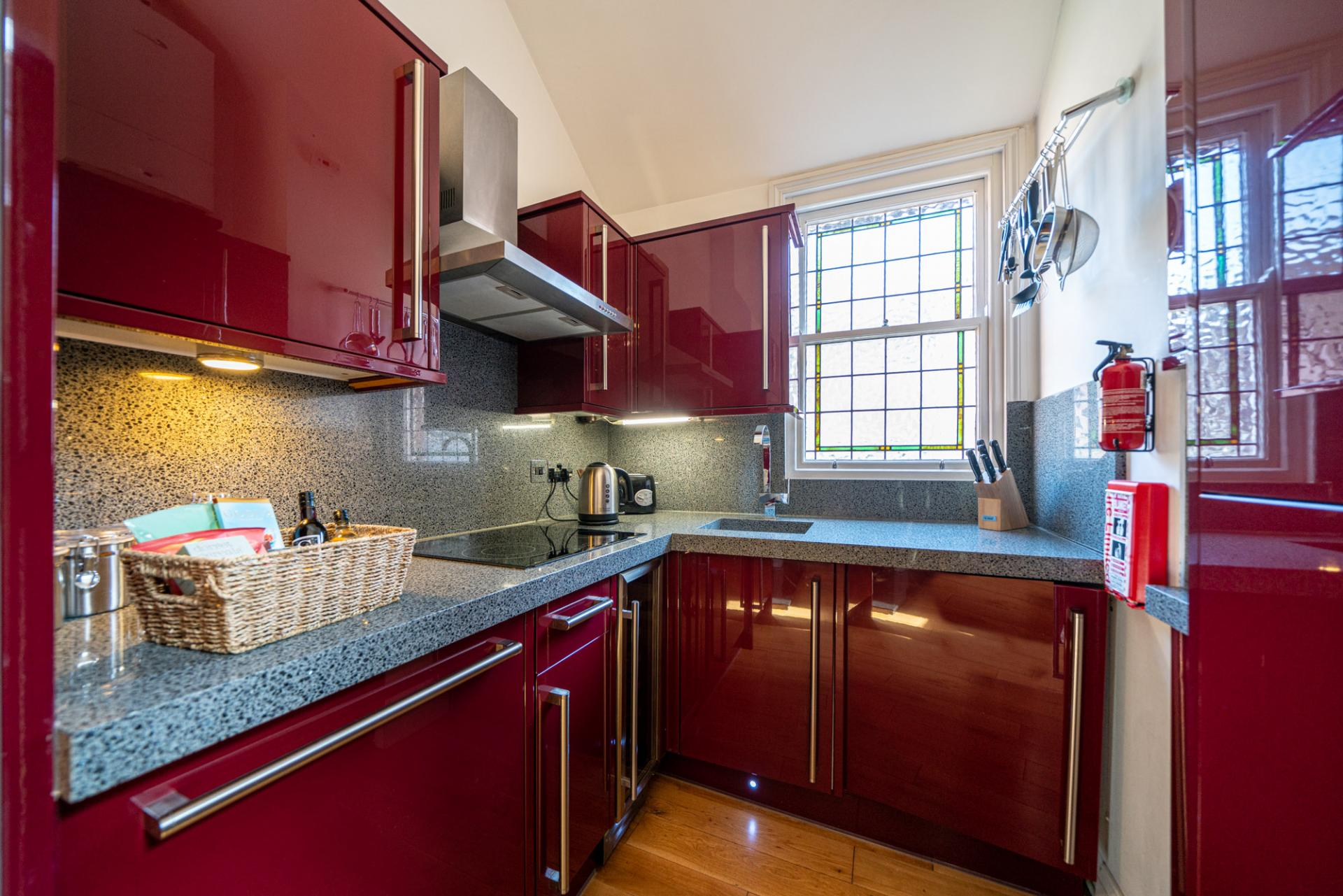 Kitchen at Romeland Apartments, The Cathedral Quarter, St Albans
