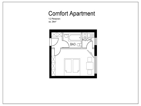 Studio floor plan at Pfalzer Wald Apartments