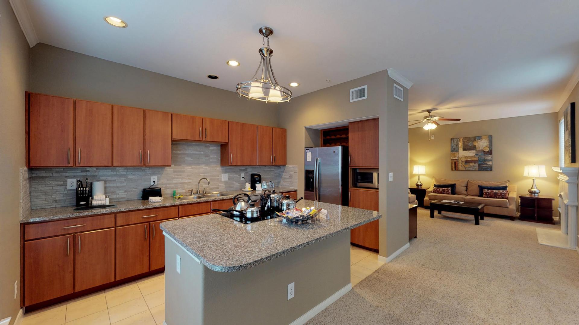 Kitchen at San Paloma Corporate Housing