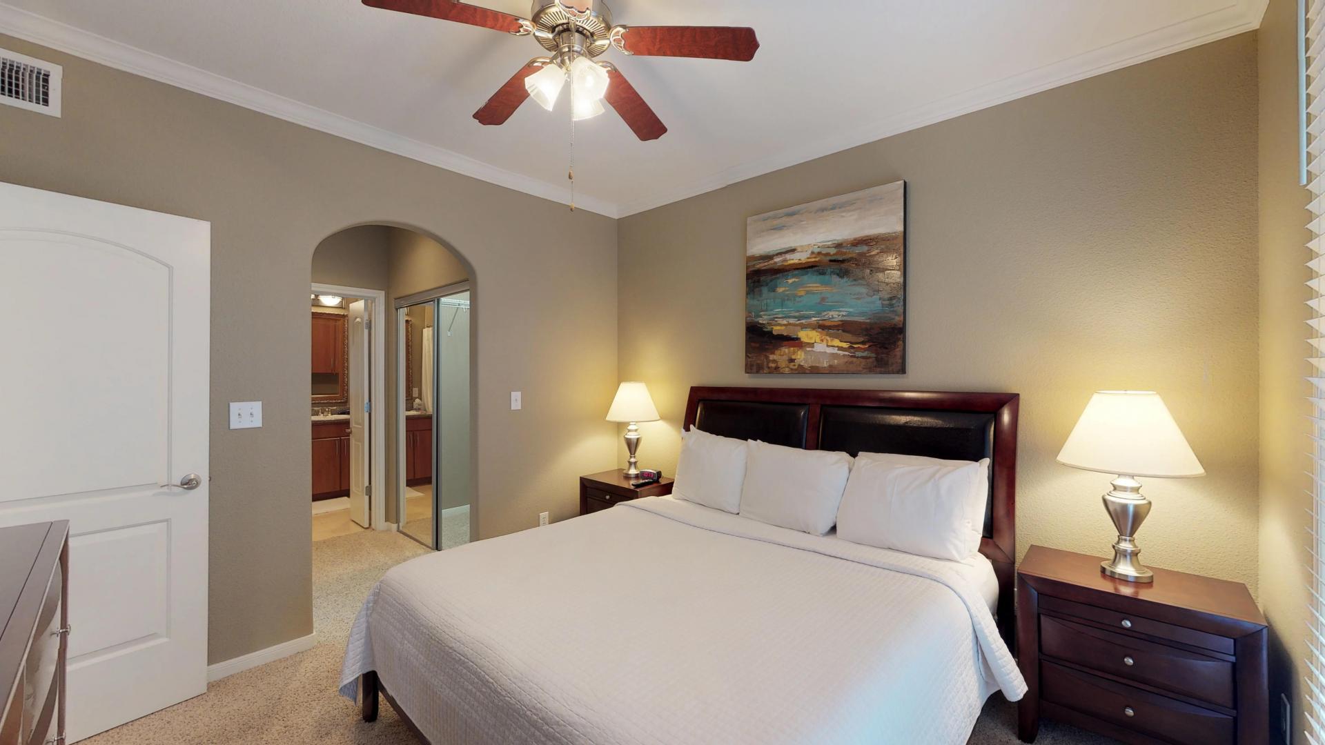 Bedroom at San Paloma Corporate Housing