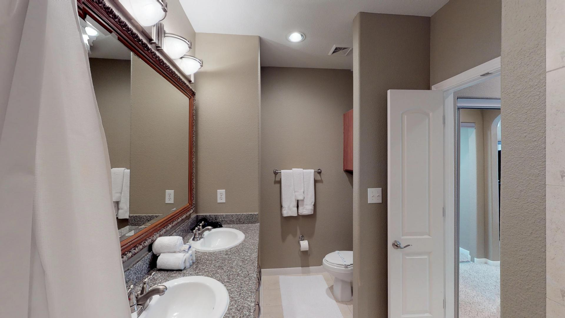 Bathroom at San Paloma Corporate Housing
