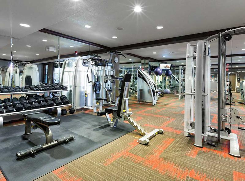 Gym at Amli 2121 Apartments