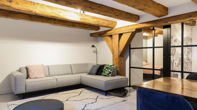 Sofa at Kerkstraat Apartment, Centre, Amsterdam