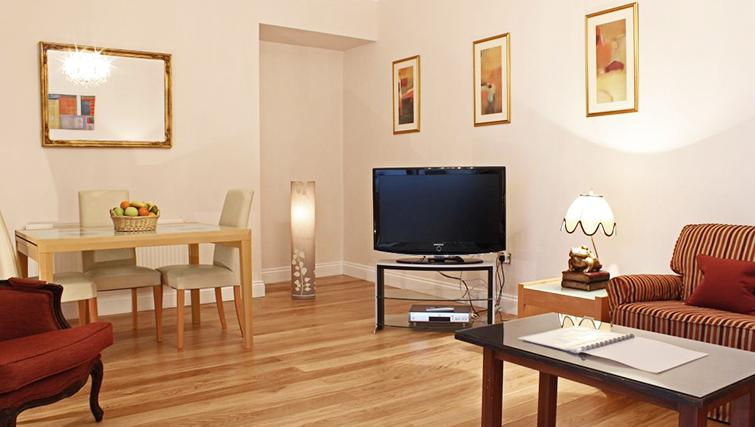 Comfortable living area in Hertfords Mayfair Serviced Apartments