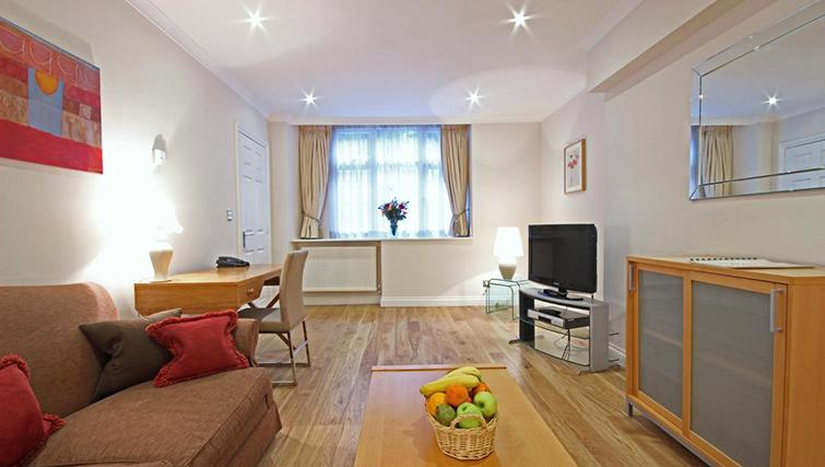Stylish living area in Hertfords Mayfair Serviced Apartments