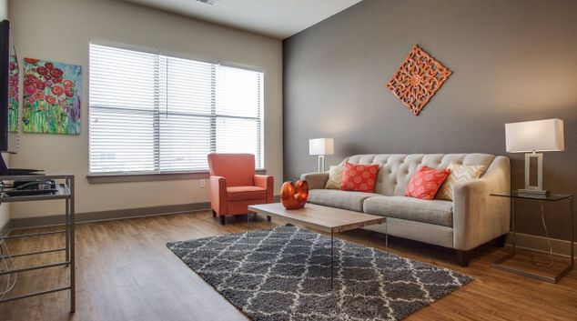 Living room at 5 Thousand 5 Galleria Apartments