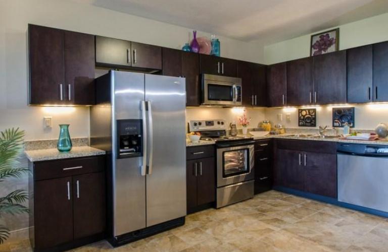 Kitchen at River Vue Apartment