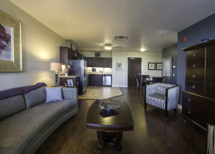 Living Room at River Vue Apartment