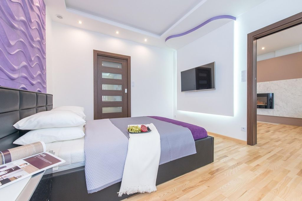 Bedroom at Old Town Square Apartments