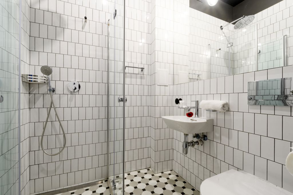 Bathroom at Old Town Square Apartments