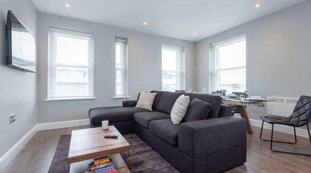 Living room at Market Street Serviced Apartments