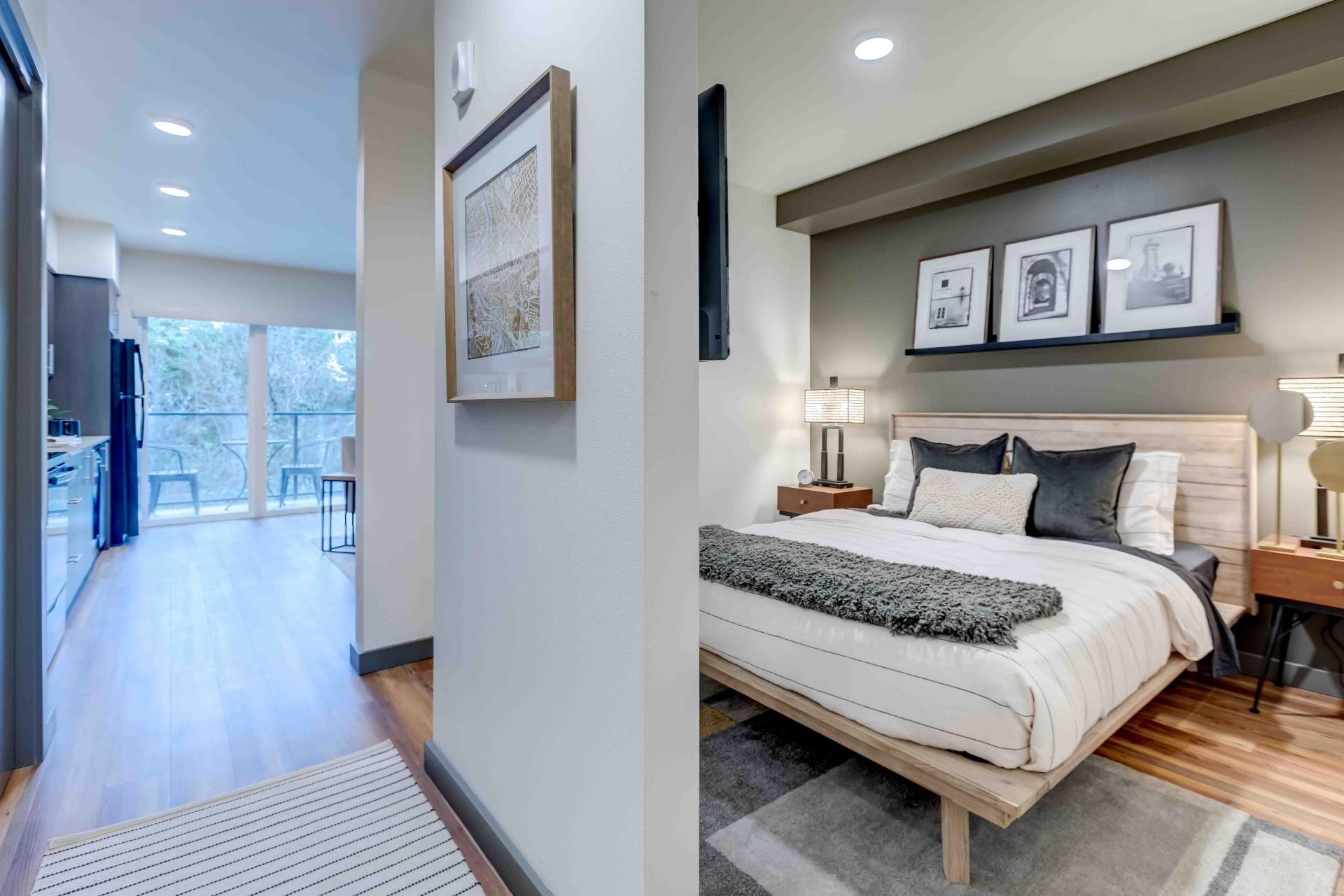 Bedroom at 2nd & John Apartments