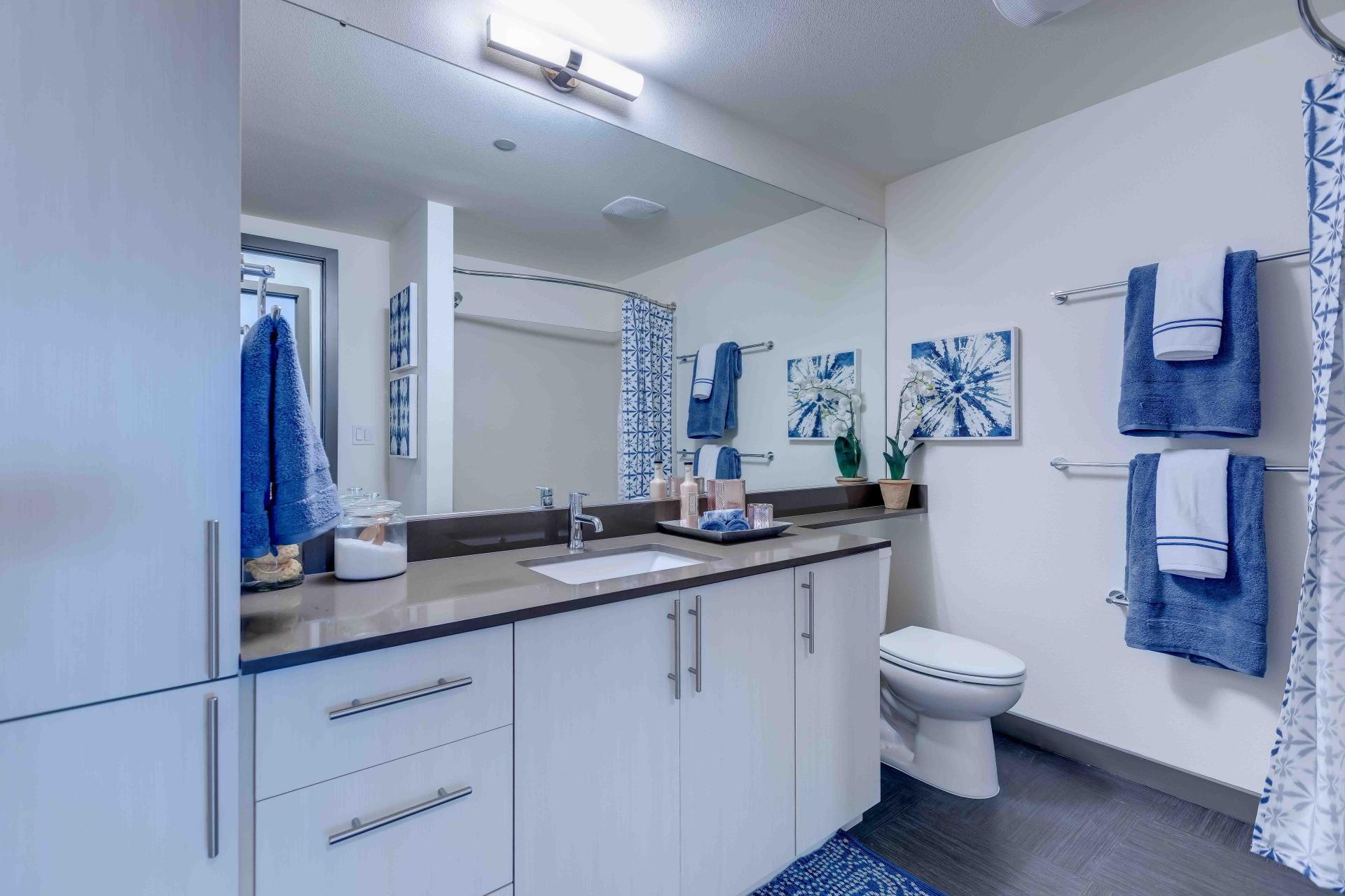 Bathroom at 2nd & John Apartments