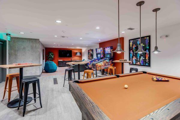 Game Room at 2nd & John Apartments