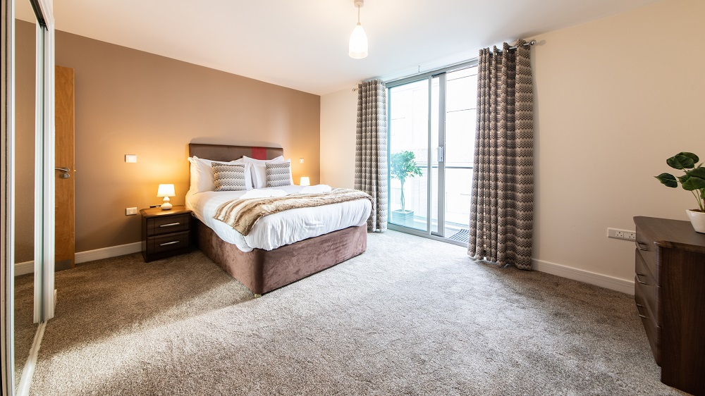 Bedroom at The Spires Birmingham