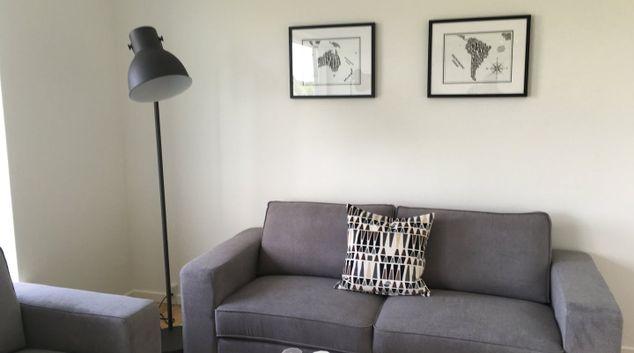 Living area at Møllers Allé Apartments, Ørestad, Copenhagen