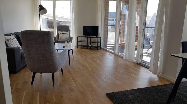 Living area at Nordre Teglka Apartments, Sydhavnen, Copenhagen
