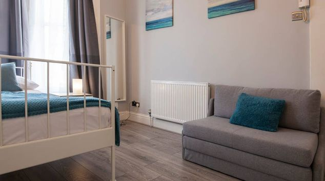 Living room at West London Serviced Apartments