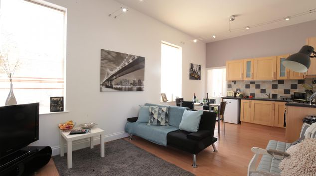 Living area at Kings Suite Apartment
