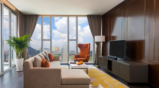 Living room at Sedona Suites Apartments