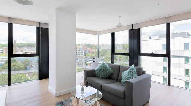 Living room at Modern Archway Apartment