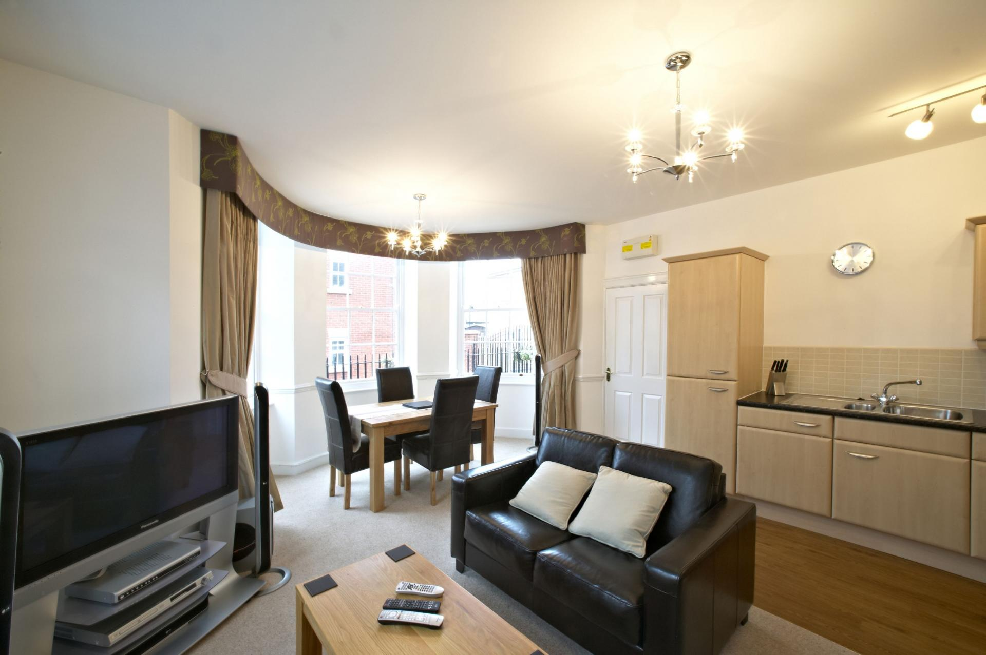 Lounge at Villetts House Apartment, Centre, Swindon
