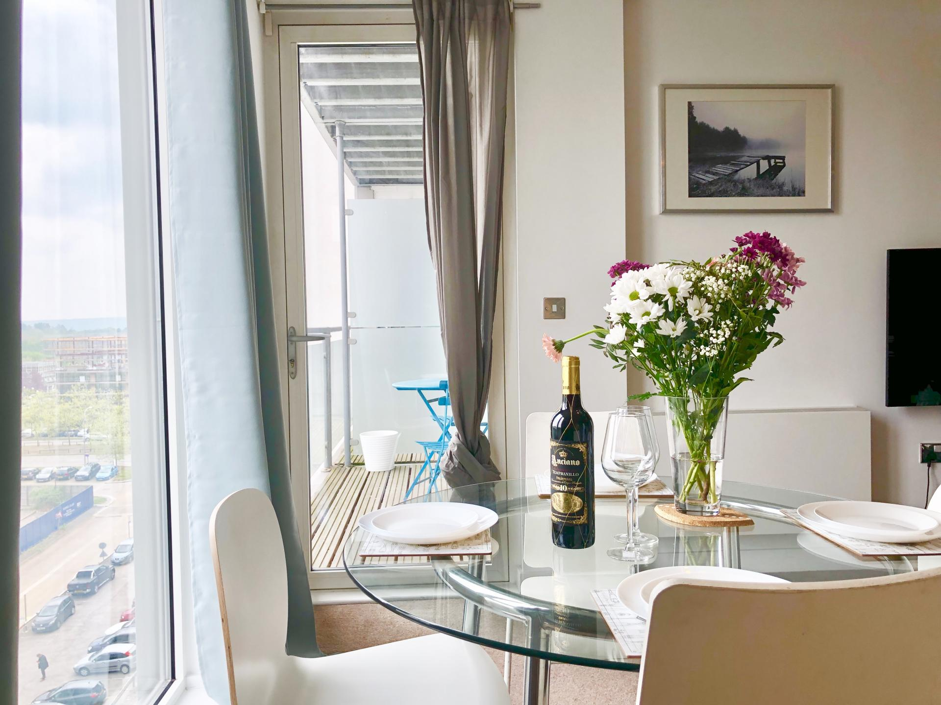Dining table at The Hub Serviced Apartments