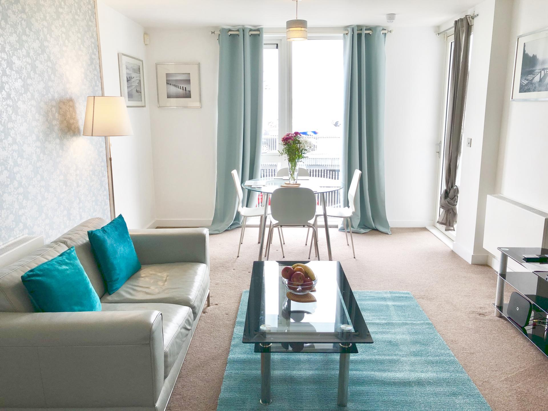 Living room at The Hub Serviced Apartments