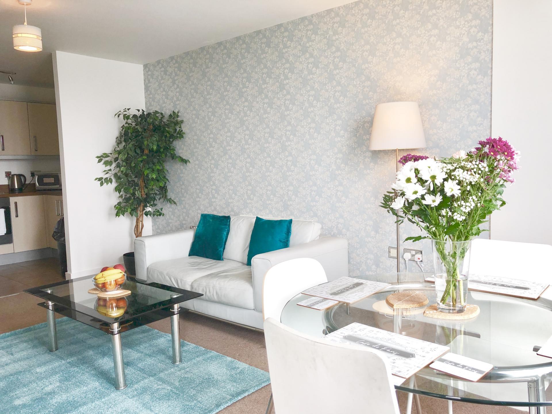 Sofa at The Hub Serviced Apartments