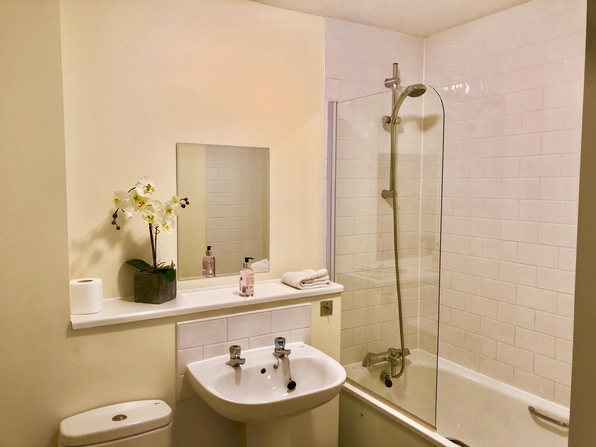 Bath at The Hub Serviced Apartments