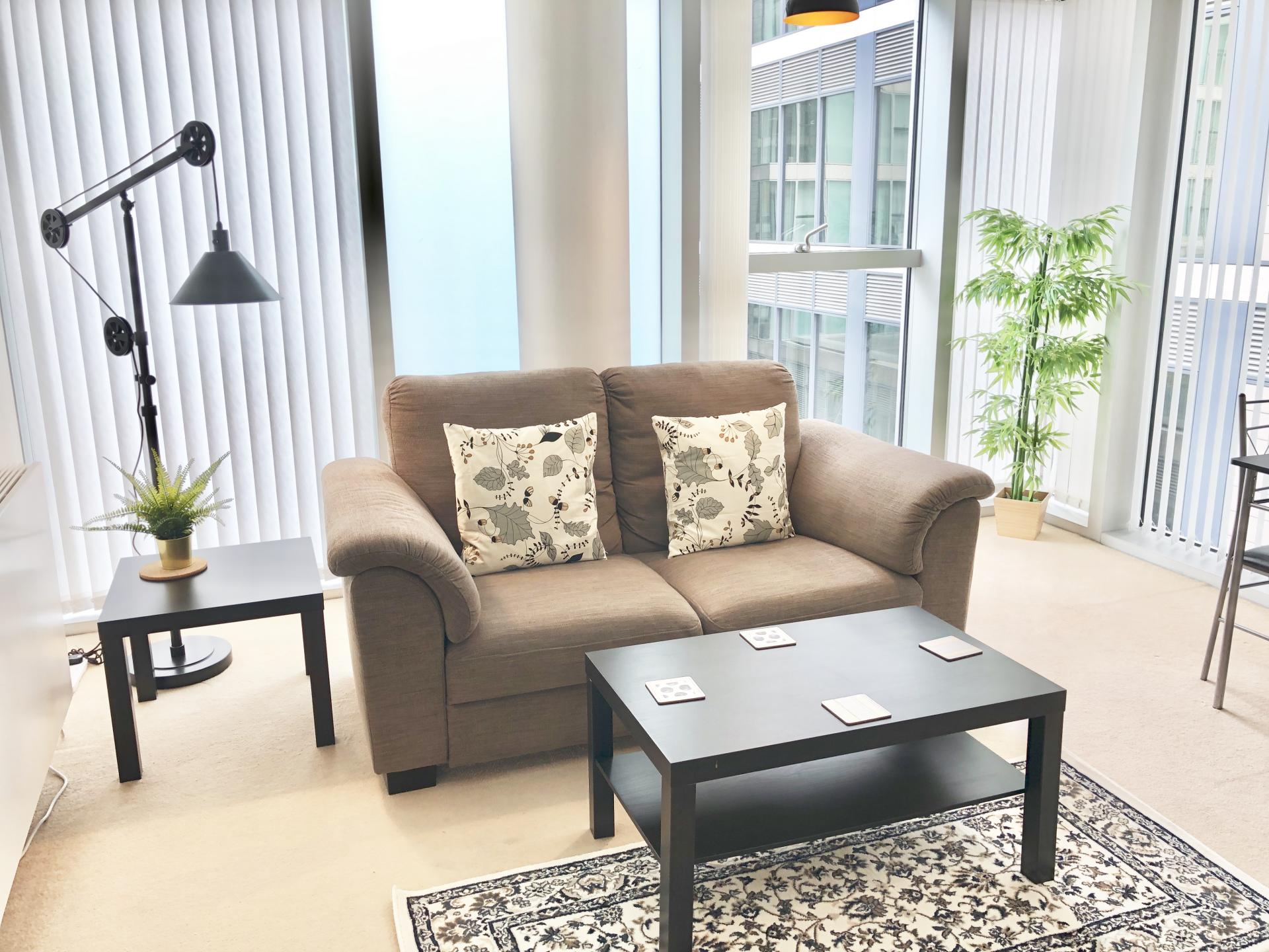 Coffee table at The Hub Serviced Apartments