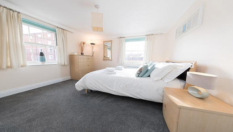 Bed at Pigg Lane Apartments