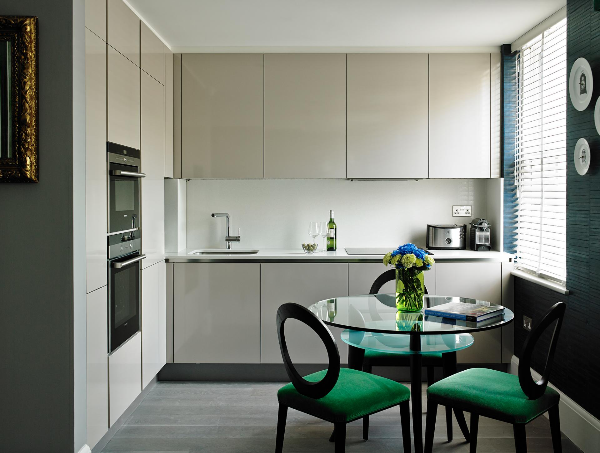 Sleek kitchen at Flemings Apartments