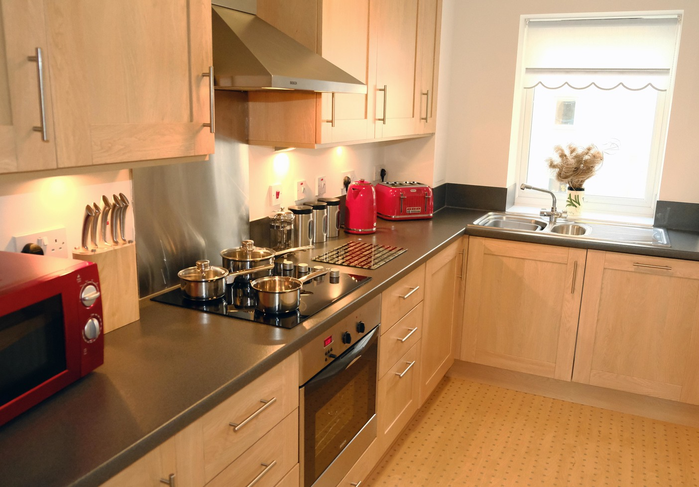 Kitchen at Knightsbridge Court Apartments
