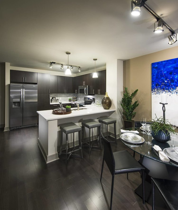 Kitchen at 100 Pier 4 Serviced Apartments