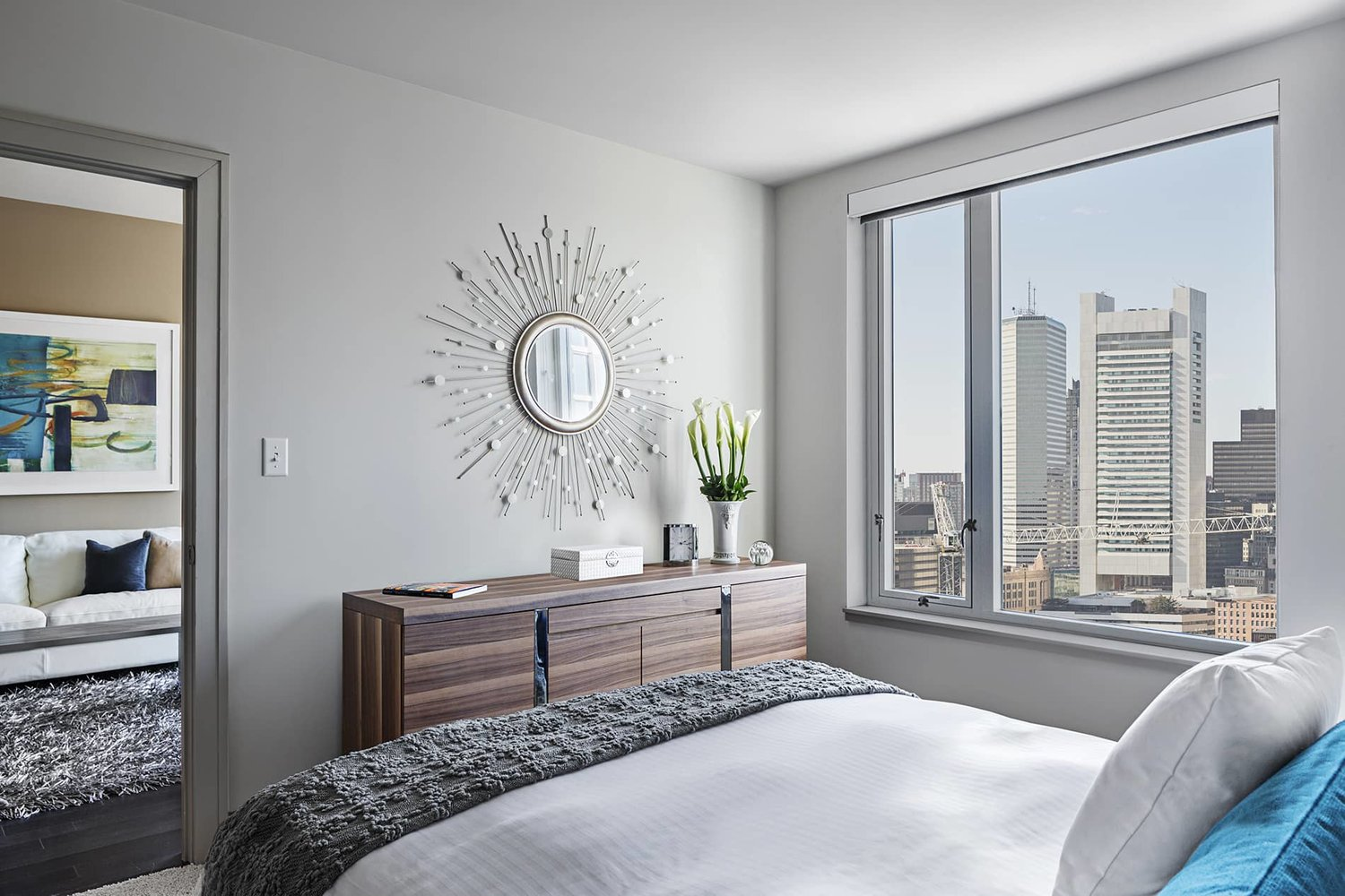 Bedroom at 100 Pier 4 Serviced Apartments