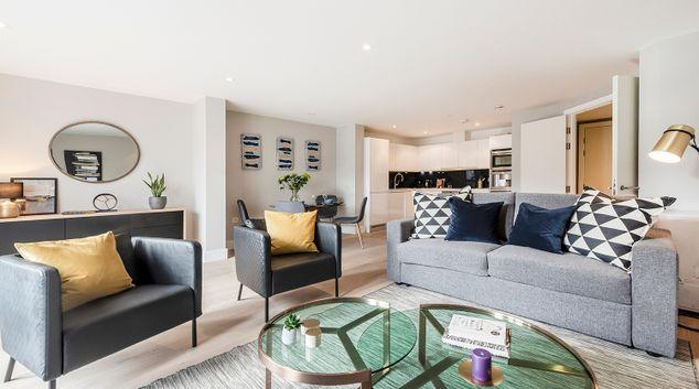 Living room at Bull Inn Court Apartment