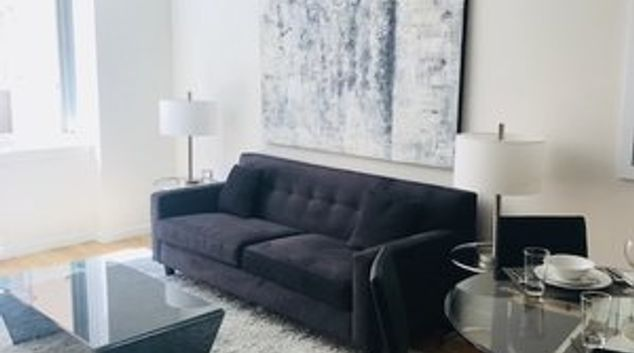 Living room at 21 Chelsea Apartments