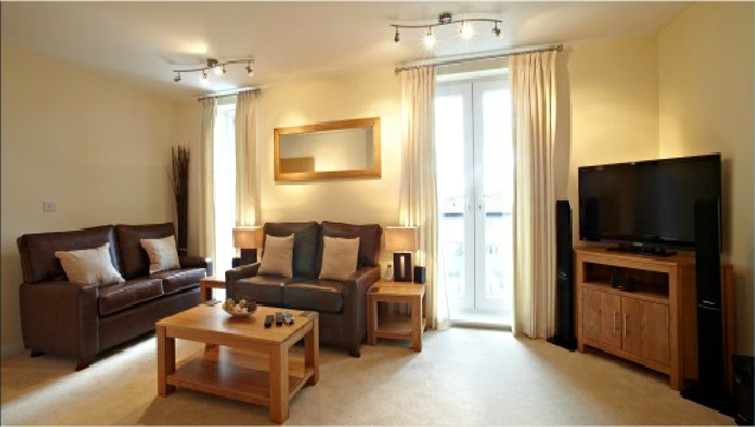 Attractive living area in Ibex House